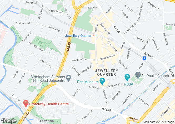 Map for The Quarter, Birmingham, West Midlands