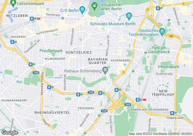 Map for Schoneberg, Berlin