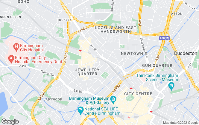 Map for Barrows & Forrester, Birmingham