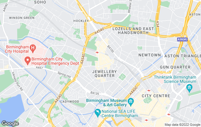 Map for Lets Live, Birmingham