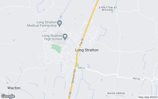 Map for Martin Smith Partnership, Long Stratton