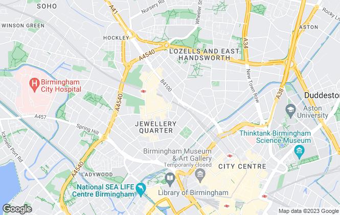 Map for Belvoir, Birmingham Central