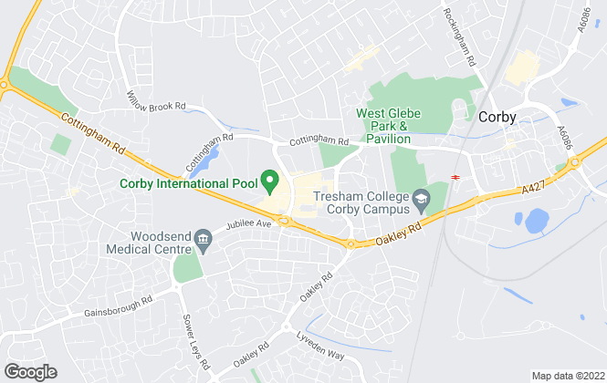 Map for TLC Property Sales & Management Ltd, Corby
