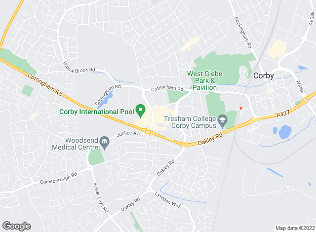 Map for Simpson West, Corby