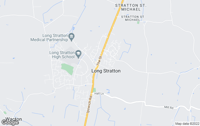 Map for Howards Estate Agents, Long Stratton