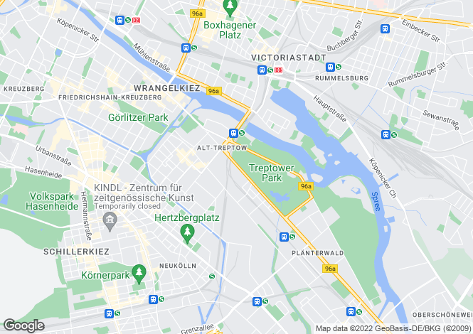 Map for Treptow, Berlin, 12435, Germany