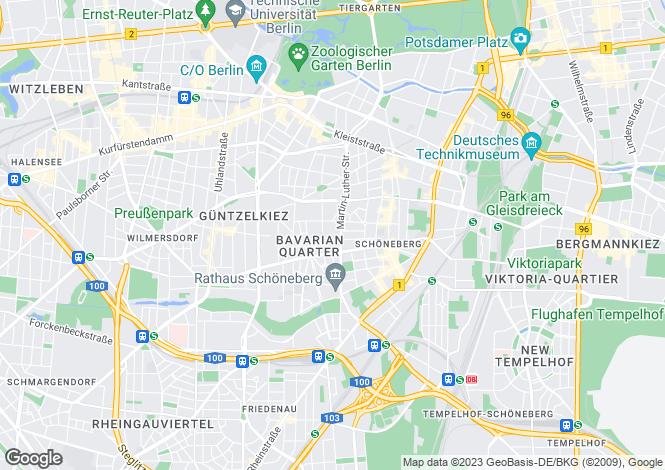 Map for Schoneberg, Berlin, 10779, Germany