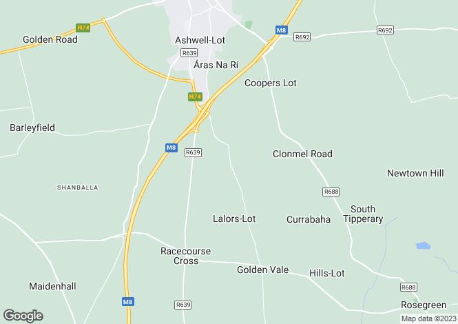 Map for Avila, Knocksaintlour, Old Road, Cashel, Co Tipperary