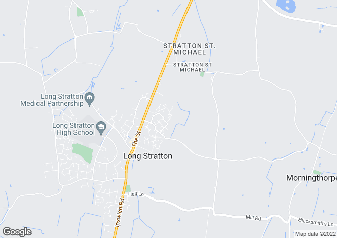 Map for Eastfield Road, Long Stratton, Norwich