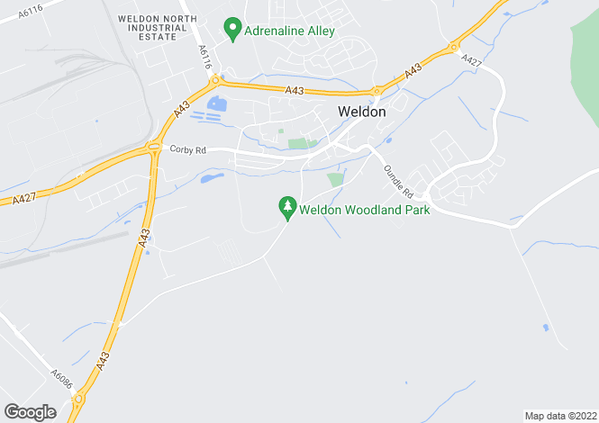 Map for Kettering Road, Weldon, CORBY, Northamptonshire