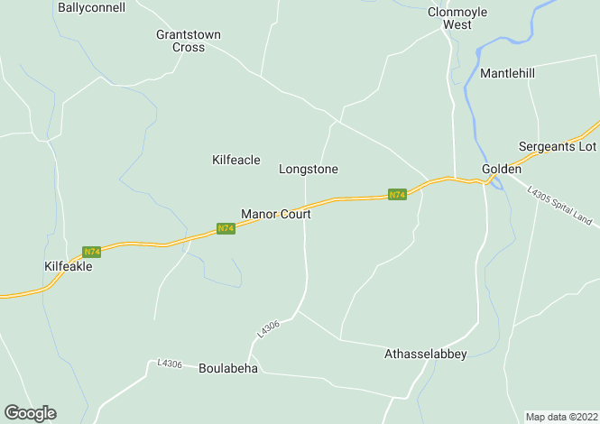 Map for Thomastown, Golden, Co Tipperary