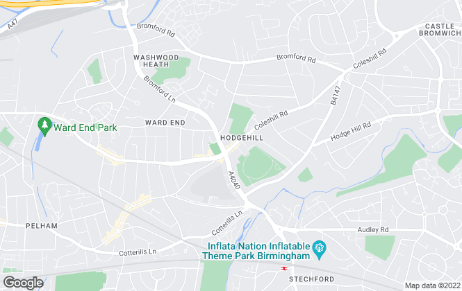 Map for Dixons, Hodge Hill