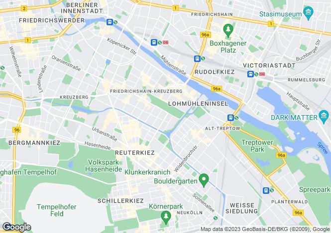 Map for 10999, Berlin / Kreuzberg, Germany