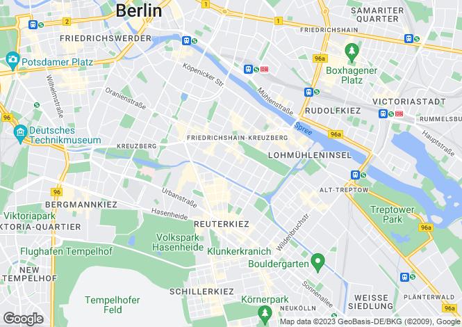 Map for Kreuzberg, Berlin