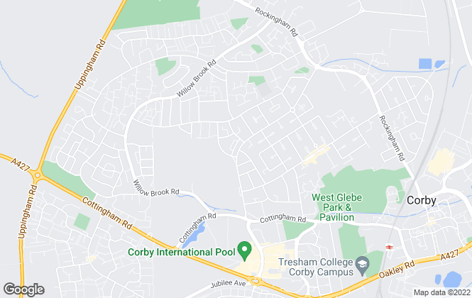 Map for Cunninghams Estate Agents, Corby - Sales