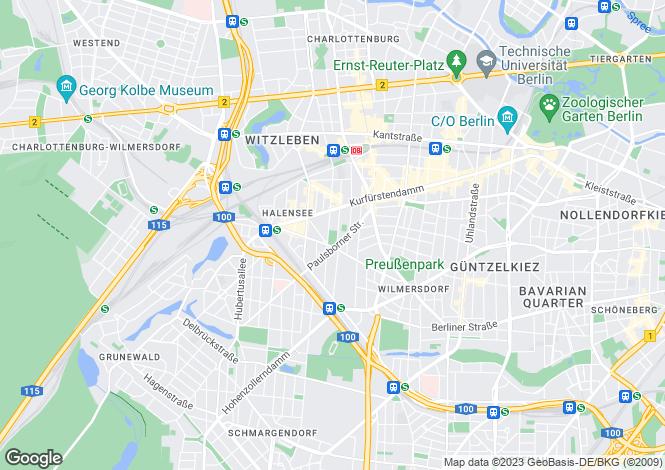 Map for Berlin, Charlottenburg