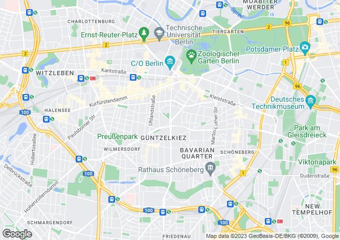 Map for Spichernstrasse, Berlin, , Italy