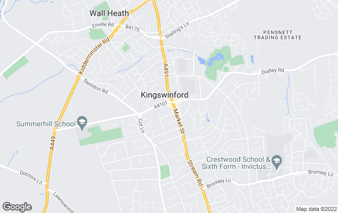Map for Andrew Cole , Kingswinford