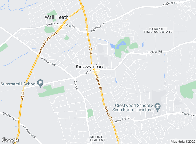 Map for Taylors Estate Agents, Kingswinford