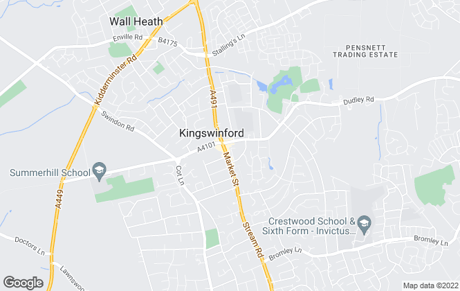Map for Taylors Estate Agents, Kingswinford, West Midlands