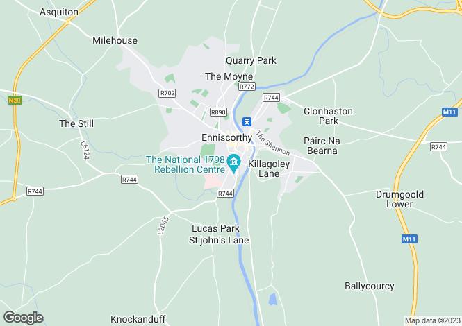 Map for Enniscorthy, Wexford