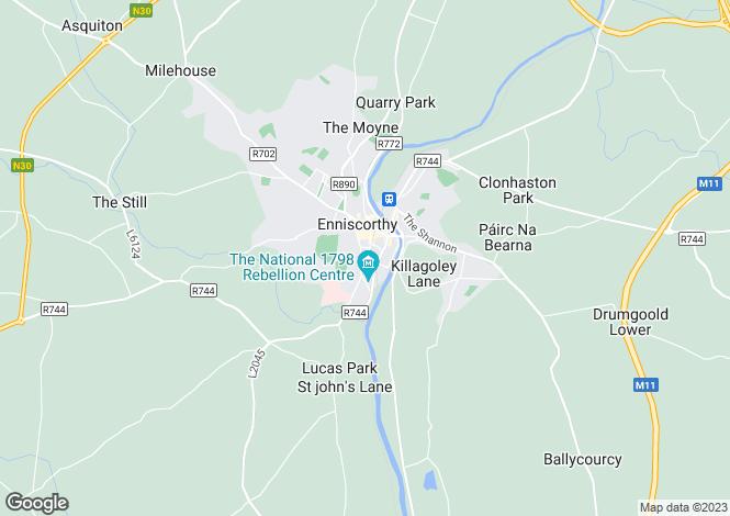 Map for 12 John Street, Enniscorthy, Co.Wexford
