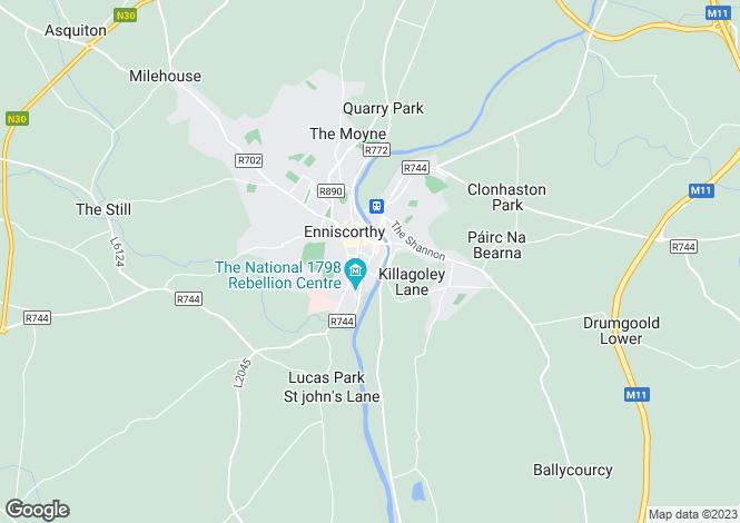 Map for 3 Millpark Road, Enniscorthy, Co Wexford, Y21N6P6