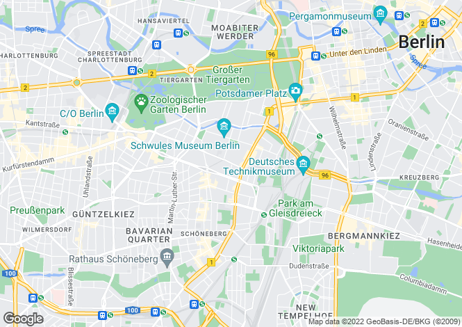 Map for Schoneberg, Berlin, 10785, Germany