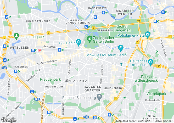 Map for 10789, Berlin, Germany