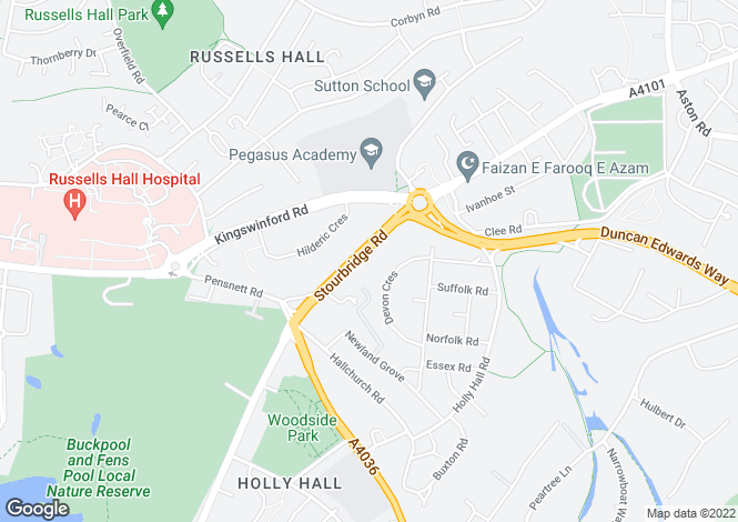 Map for 145-155 Stourbridge Road, Holly Hall, DY1