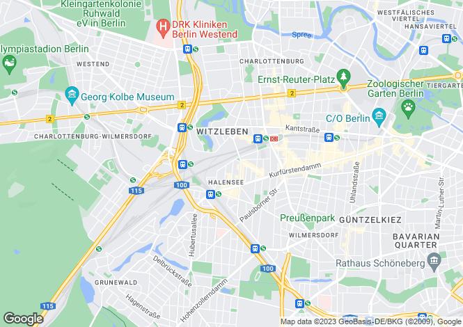 Map for Berlin, Wilmersdorf