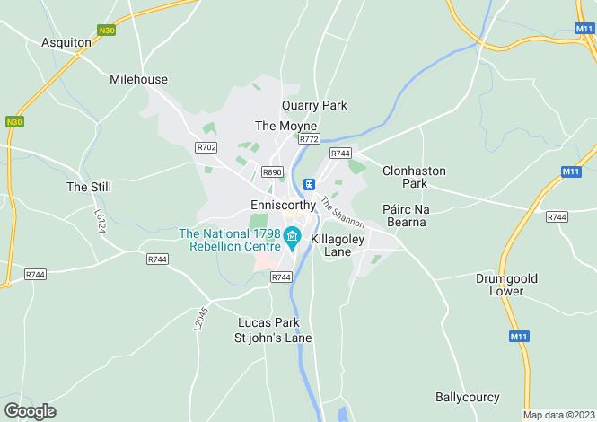 Map for Church Street, Enniscorthy, Co Wexford