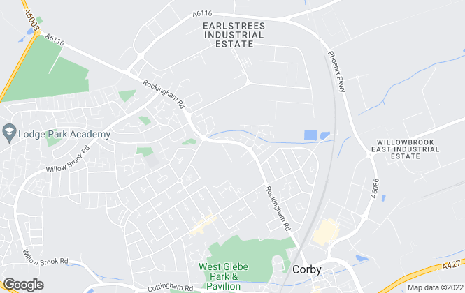 Map for Belvoir, Corby