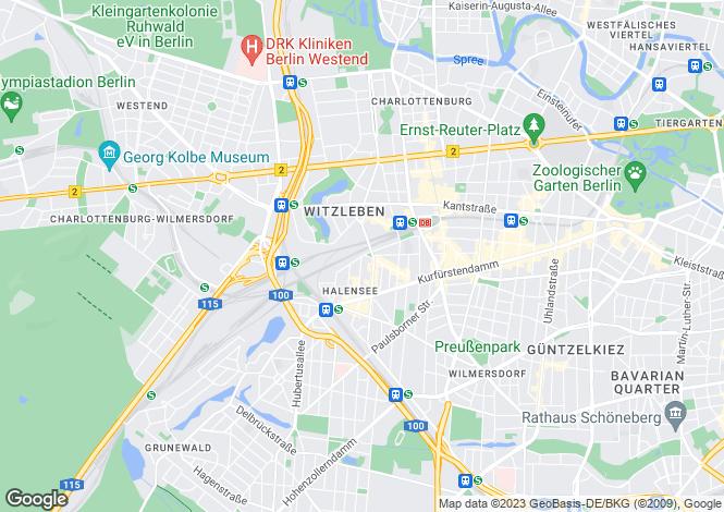 Map for High West Development, Heilbronner Straße, Berlin