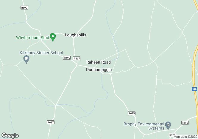Map for Dunnamaggin, Kells, Kilkenny