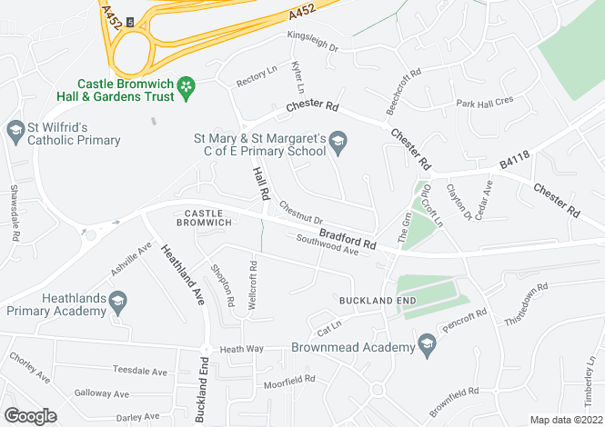 Map for Chestnut Drive, Castle Bromwich, Birmingham