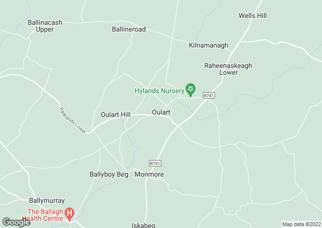 Map for Oulart, Wexford