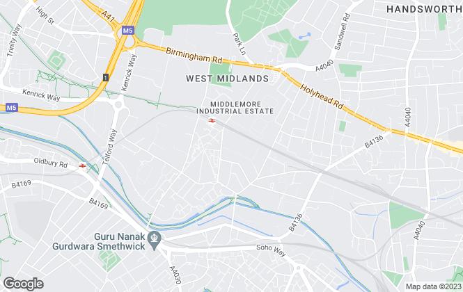 Map for Mornington Park Industrial Estate, Smethwick