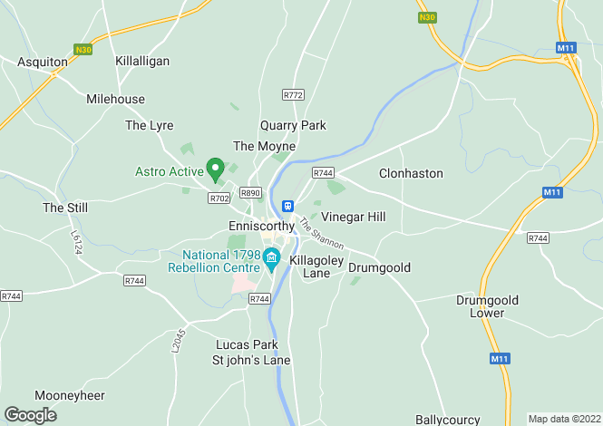 Map for Retail Unit & Warehouse, Templeshannon, Enniscorthy, Co Wexford