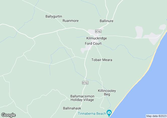 Map for Kilmuckridge, Wexford