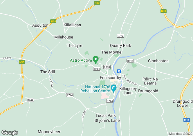 Map for Commercial Premises, Bellefield, Enniscorthy, Co Wexford