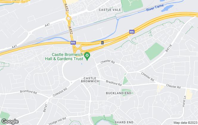Map for DLM Property Management Ltd, Castle Bromwich