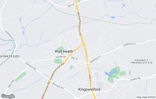 Map for Gilbert Scott Estate Agents Ltd, Wall Heath