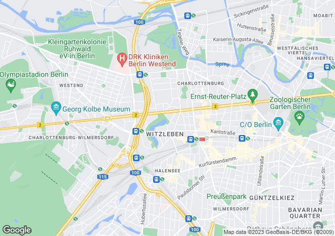 Map for Witzlebenplatz, Berlin, Berlin, 14057, Germany
