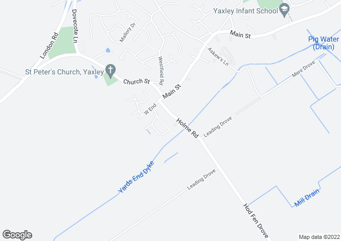 Map for Holme Road, Yaxley, PETERBOROUGH, Cambridgeshire