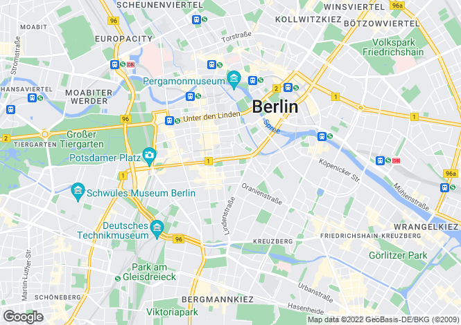 Map for Leipziger Strasse, Berlin, 10117, Germany