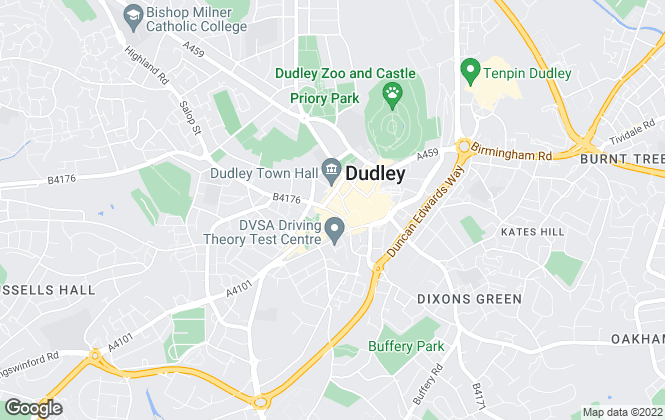 Map for Wakeman Estate Agents, Dudley