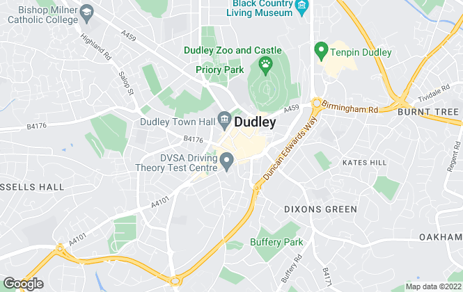 Map for Connells Lettings, Dudley