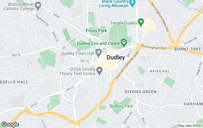 Map for Connells, B'ham West - Dudley