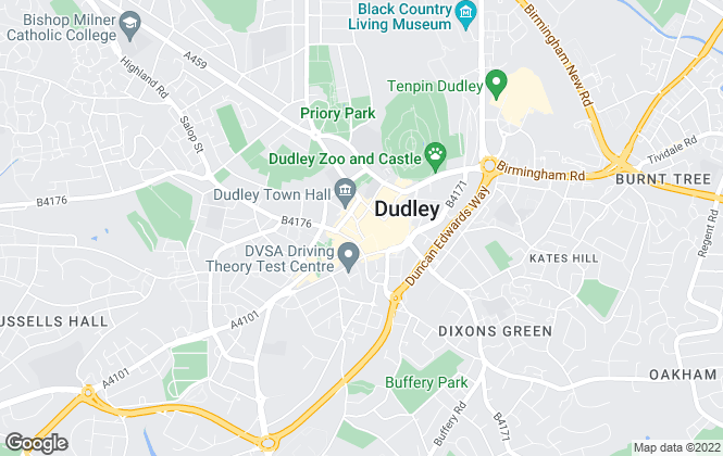 Map for Dixons, Dudley